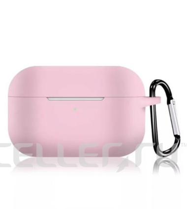 Силиконовый чехол для Apple AirPods Pro розовый