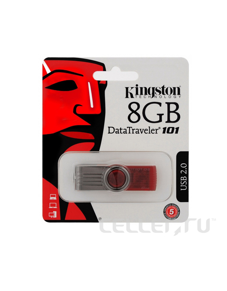 USB Флэшка Kingston Data Traveler 101 G2 8GB
