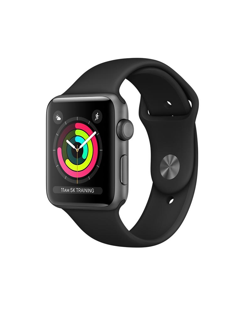 """Часы Apple Watch Series 3 38mm Aluminum Case with Sport Band """"Серый космос"""", Спортивный браслет Черный"""