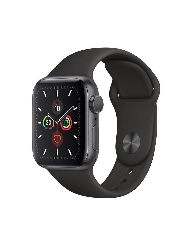 Apple Watch Series 5, 40 мм, корпус из алюминия цвета «серый космос», спортивный ремешок черного цвета