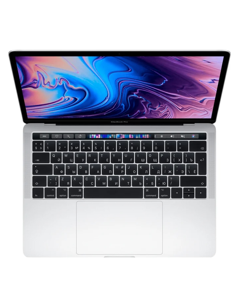 "Ноутбук Apple MacBook Pro 13 with Retina display and Touch Bar Mid 2019 (Intel Core i5 2400 MHz/13.3""/2560x1600/8GB/256GB SSD/DVD нет/Intel Iris Plus Graphics 655/Wi-Fi/Bluetooth/macOS) Silver"