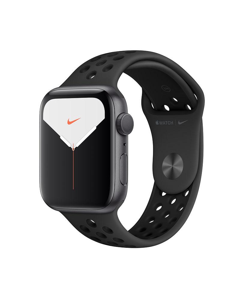 Apple Watch Series 5 Nike, 40 мм, корпус из алюминия цвета «серый космос», спортивный ремешок цвета Anthracite/Black