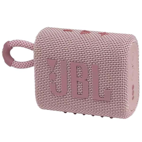 Беспроводная акустика JBL Go 3 Pink (JBLGO3PINK)