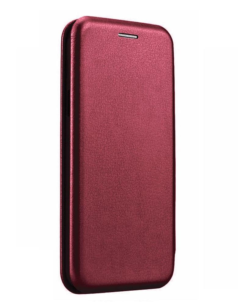 Чехол-книжка для Samsung Galaxy A01 бордовый