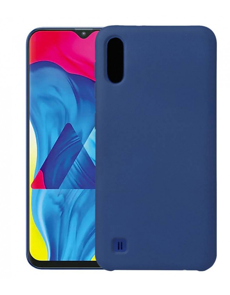 Чехол Silicone Cover для Samsung Galaxy A01 темно-синий