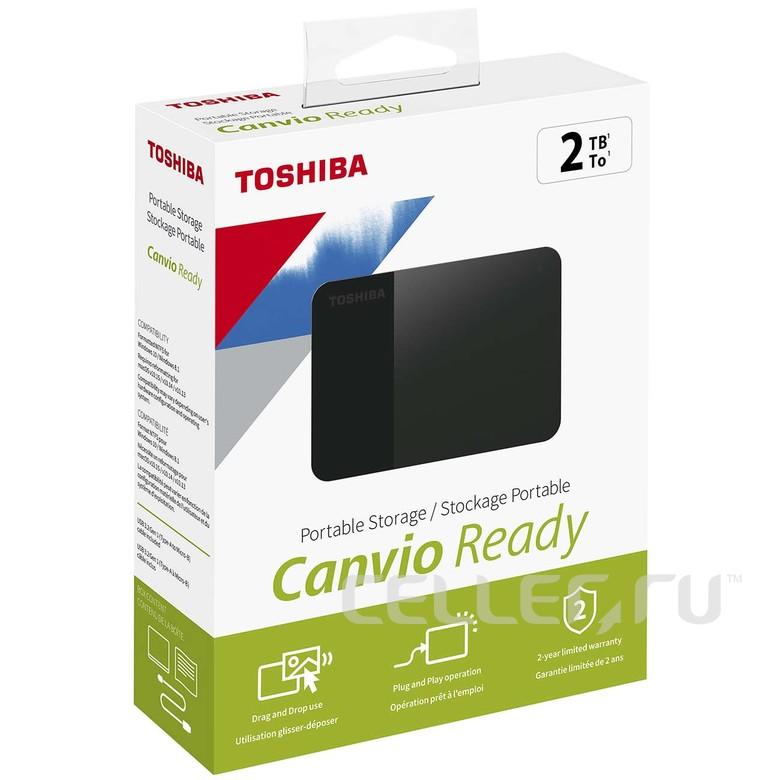 "Внешний жесткий диск 2.5"" Toshiba 2Tb Canvio Ready"