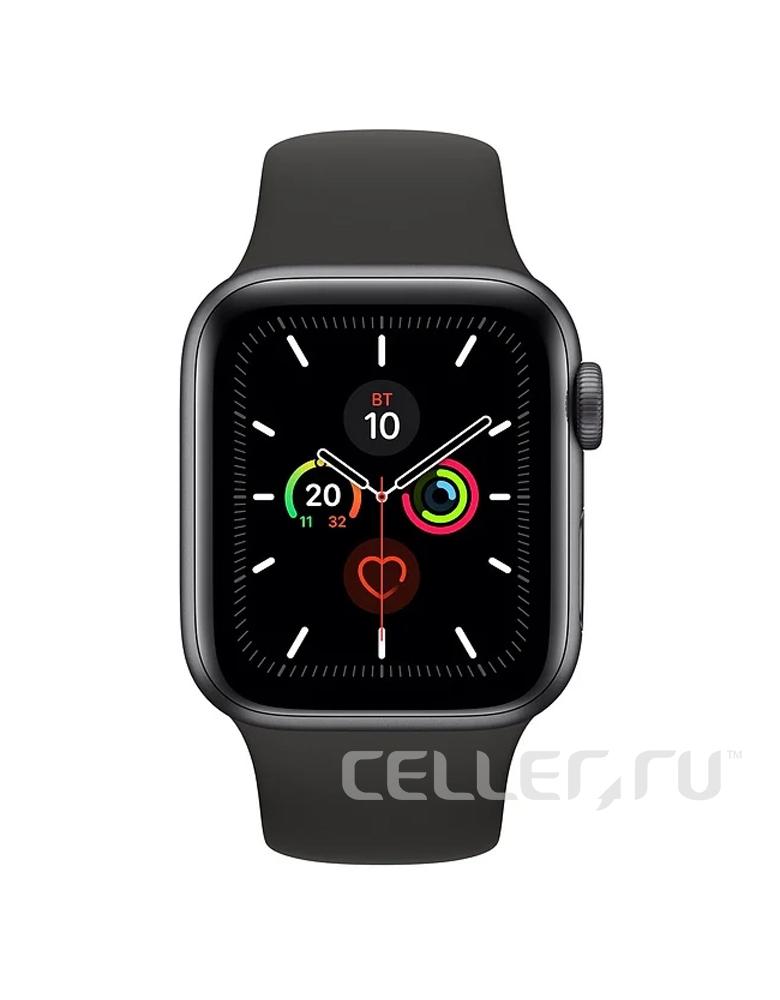 Умные часы Apple Watch Series 5 GPS 44mm Aluminum Case with Sport Band черные
