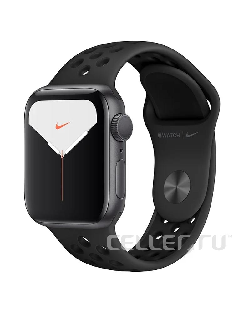 Умные часы Apple Watch Series 5 GPS 44mm Aluminum Case with Nike Sport Band черные