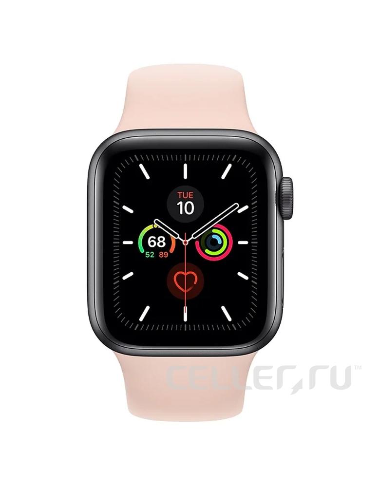 Умные часы Apple Watch Series 5 GPS 44mm Aluminum Case with Sport Band розовые