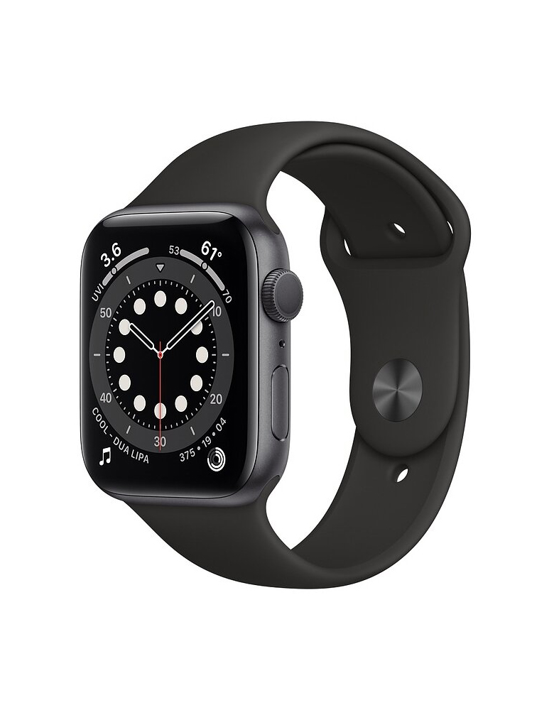 Умные часы Apple Watch Series 6 GPS 44мм Aluminum Case with Sport Band Черные