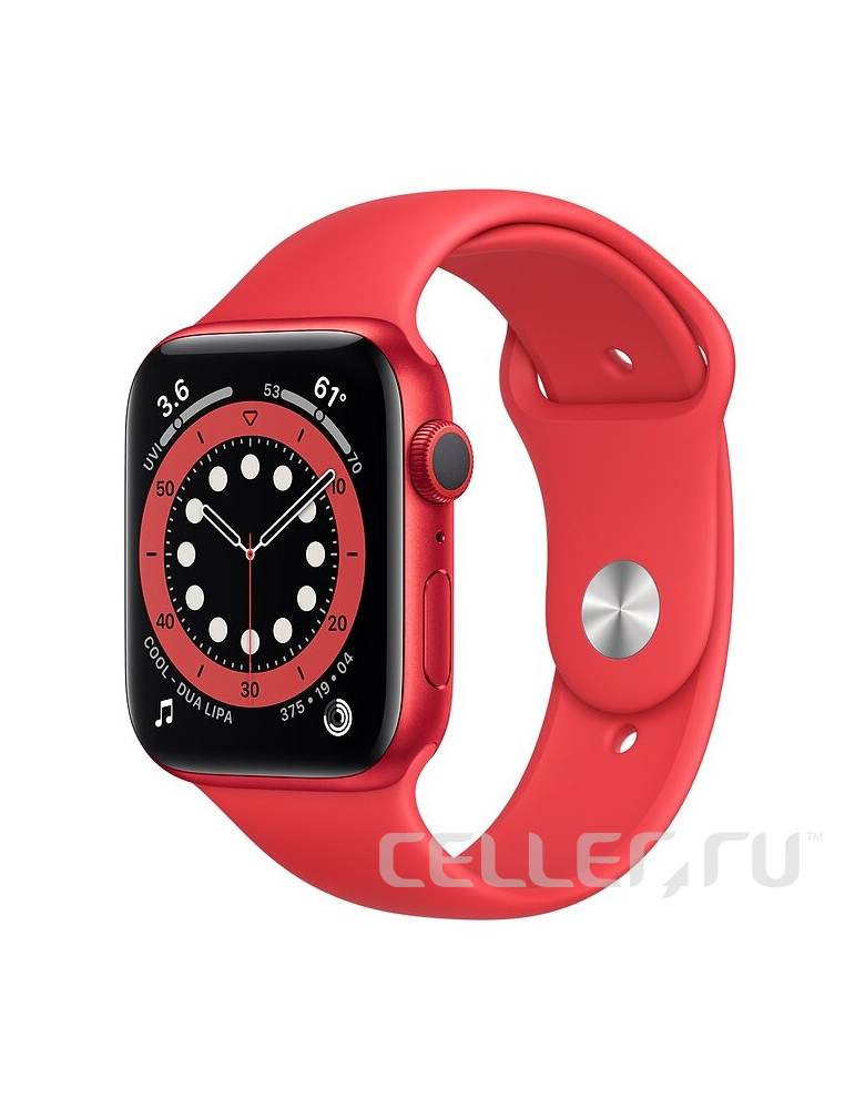 Умные часы Apple Watch Series 6 GPS 44мм Aluminum Case with Sport Band (PRODUCT)RED
