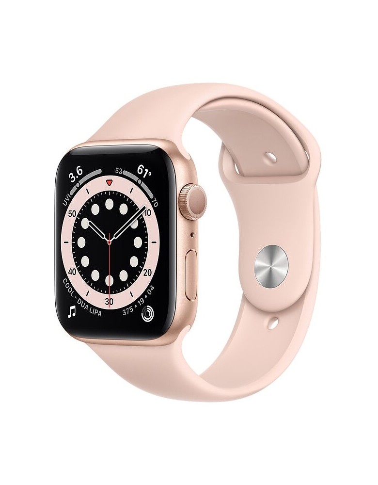 Умные часы Apple Watch Series 6 GPS 44мм Aluminum Case with Sport Band золотистый/розовый песок