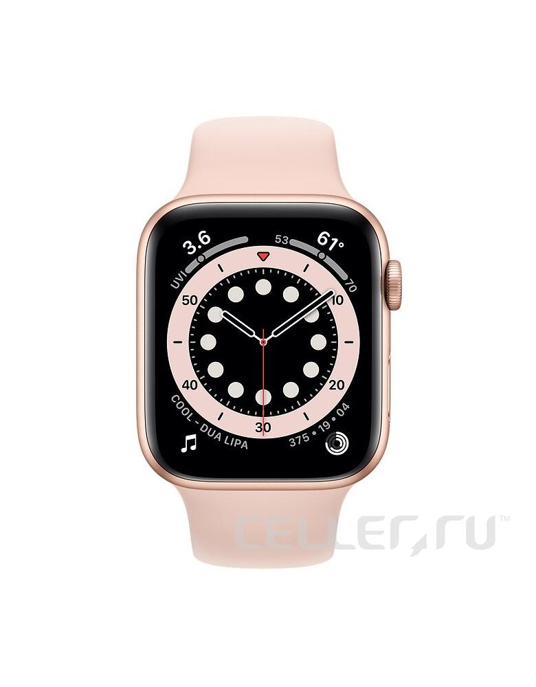 Умные часы Apple Watch Series 6 GPS 40мм Aluminum Case with Sport Band золотистый/розовый песок