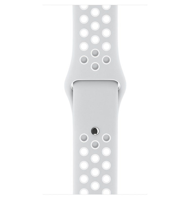 38mm Pure Platinum/White Nike Sport Band