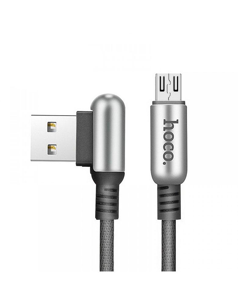 USB кабель micro HOCO (Original ) U17 1,2 м Цвет: Чёрный