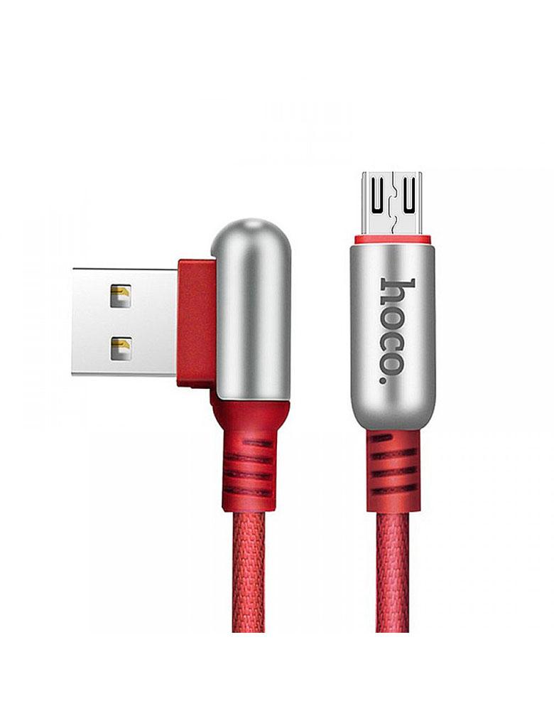 USB кабель micro HOCO (Original ) U17 1,2 м Цвет: Красный