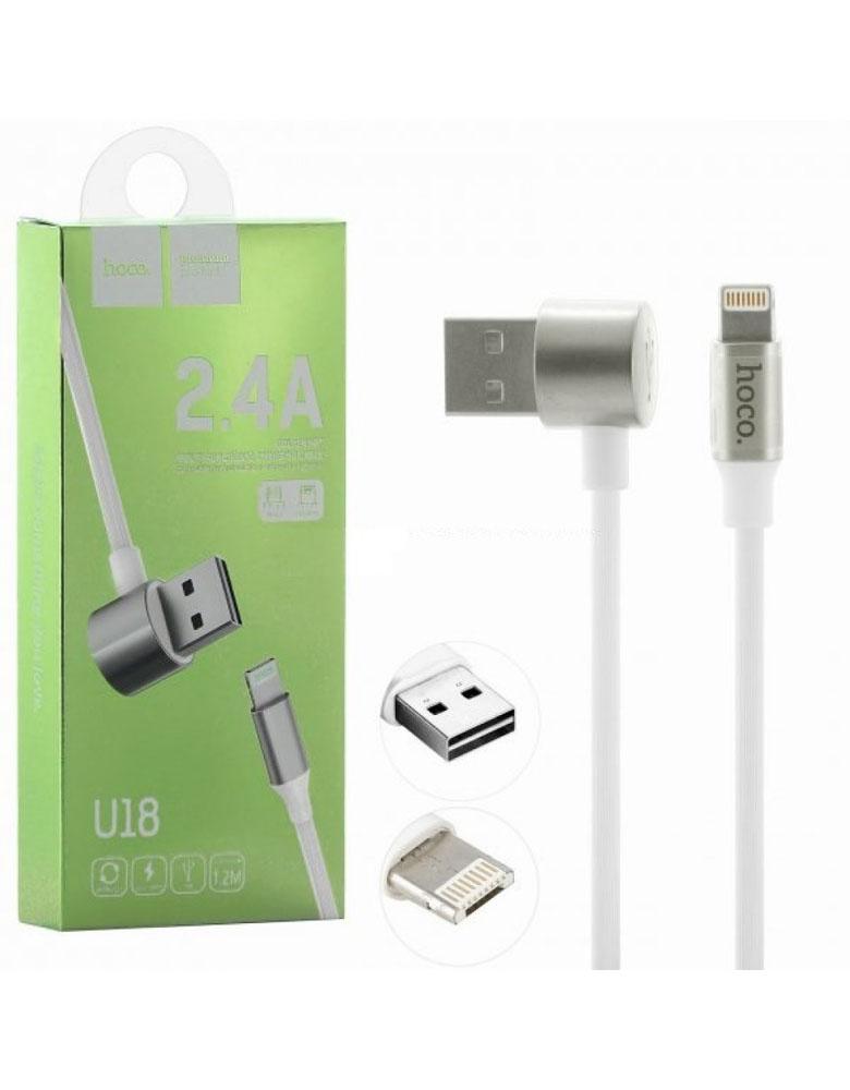 Двухсторонний кабель Lightning + Micro USB, Hoco U18 Golden Hat Multi-Functional Cable Цвет: белый