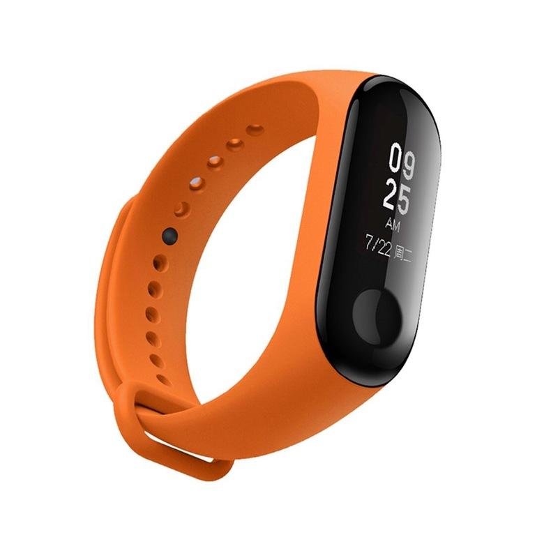 Ремешок для фитнес браслета Xiaomi Mi Band 3/4 (оранжевый)