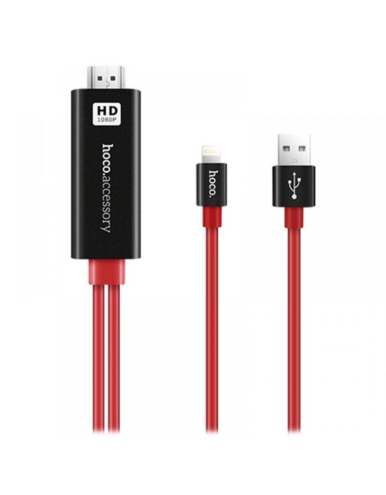 Кабель HDMi Lightning Hoco UA4 цвет: красный