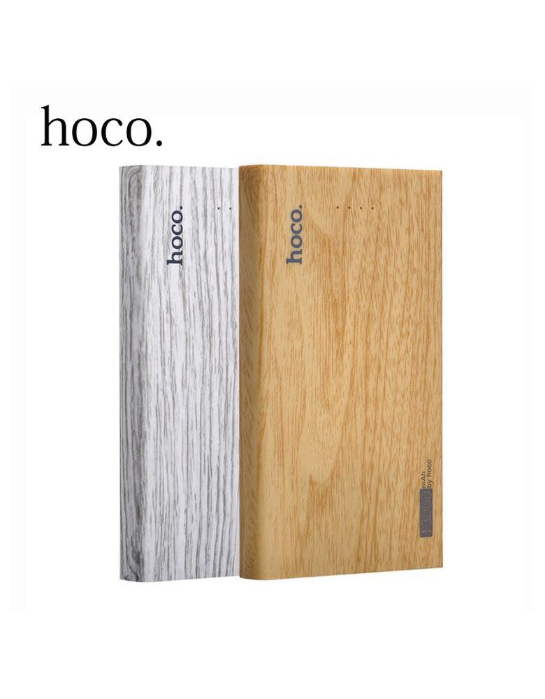 "Внешний аккумулятор B12B-13000 mAh (Power bank) Hoco"" wood grain, fir wood"