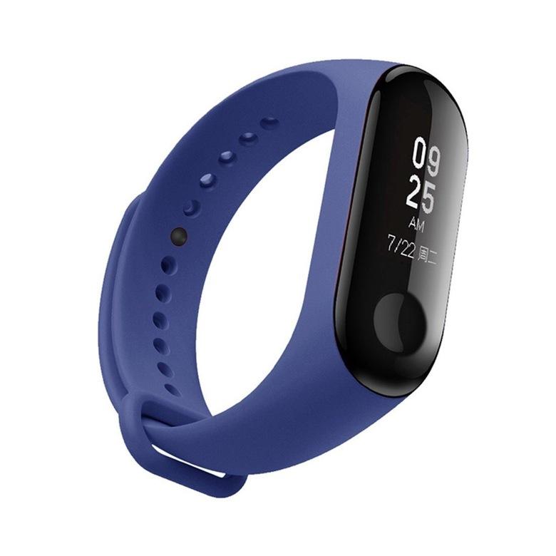 Ремешок для фитнес браслета Xiaomi Mi Band 3/4 (темно-синий)