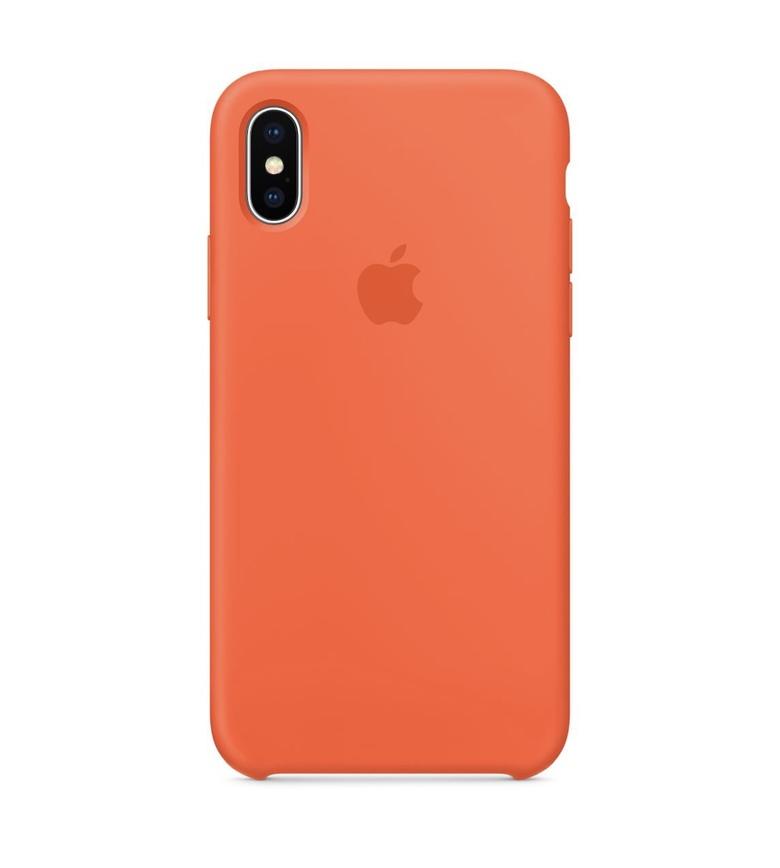 iPhone X Silicone Case - Spicy Orange