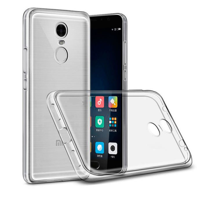 Чехол Xiaomi Redmi Note 4x Прозрачный Силиконовый