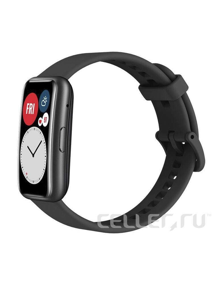 Умные часы HUAWEI Watch Fit графитовый черный