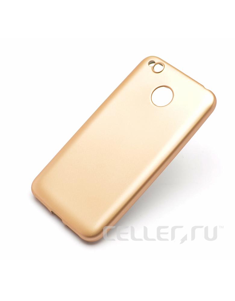 Чехол Xiaomi 4X пластик Soft touch Gold