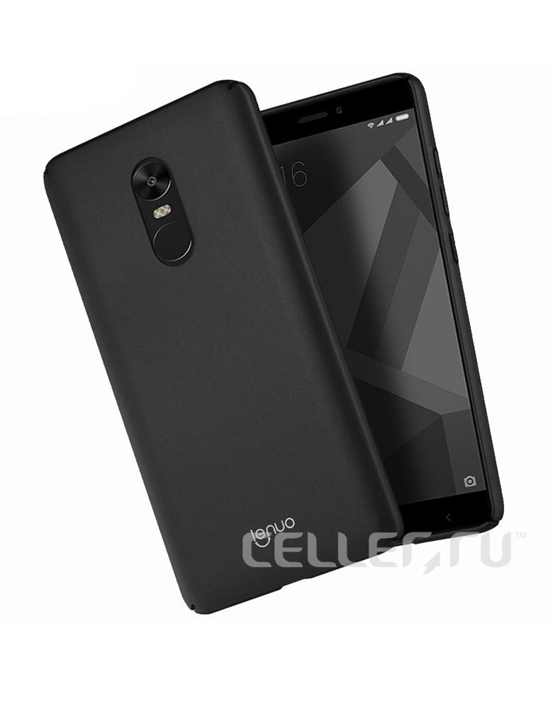 Чехол Xiaomi Note 4X пластик Soft touch Black