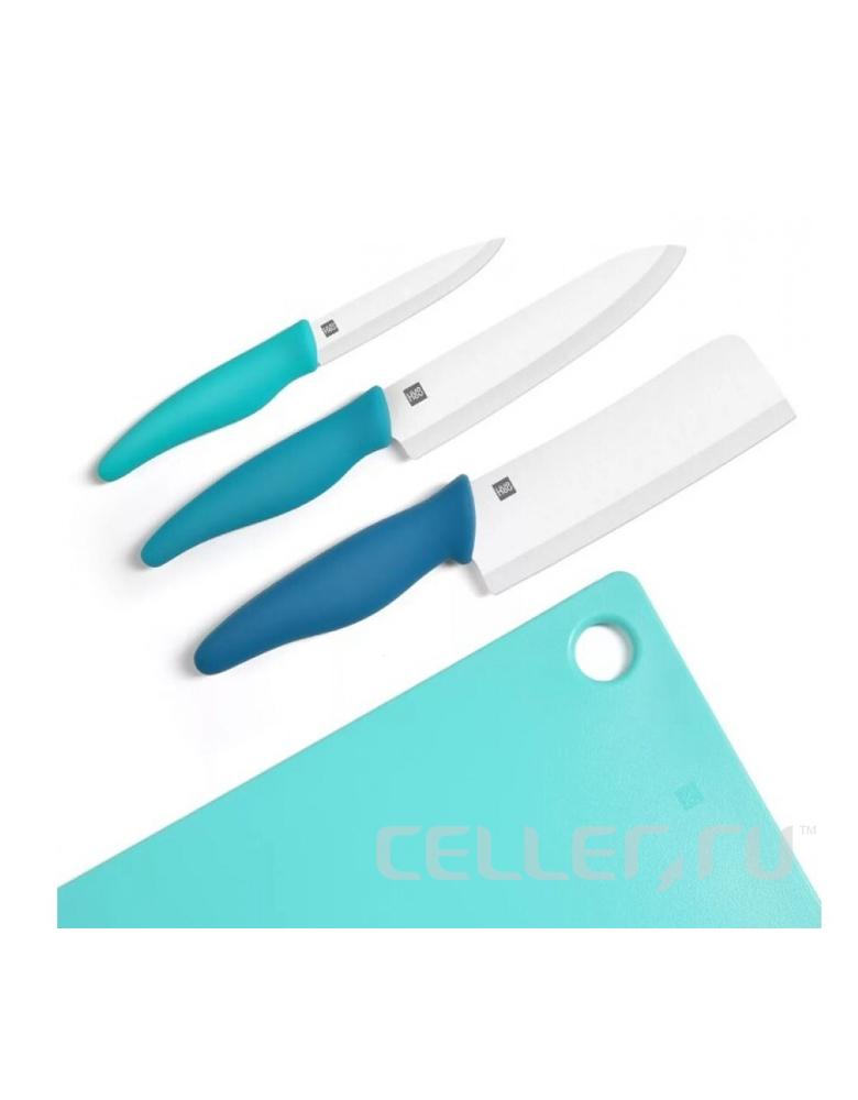 Набор кухонных ножей Xiaomi из 4 предметов с разделочной доской