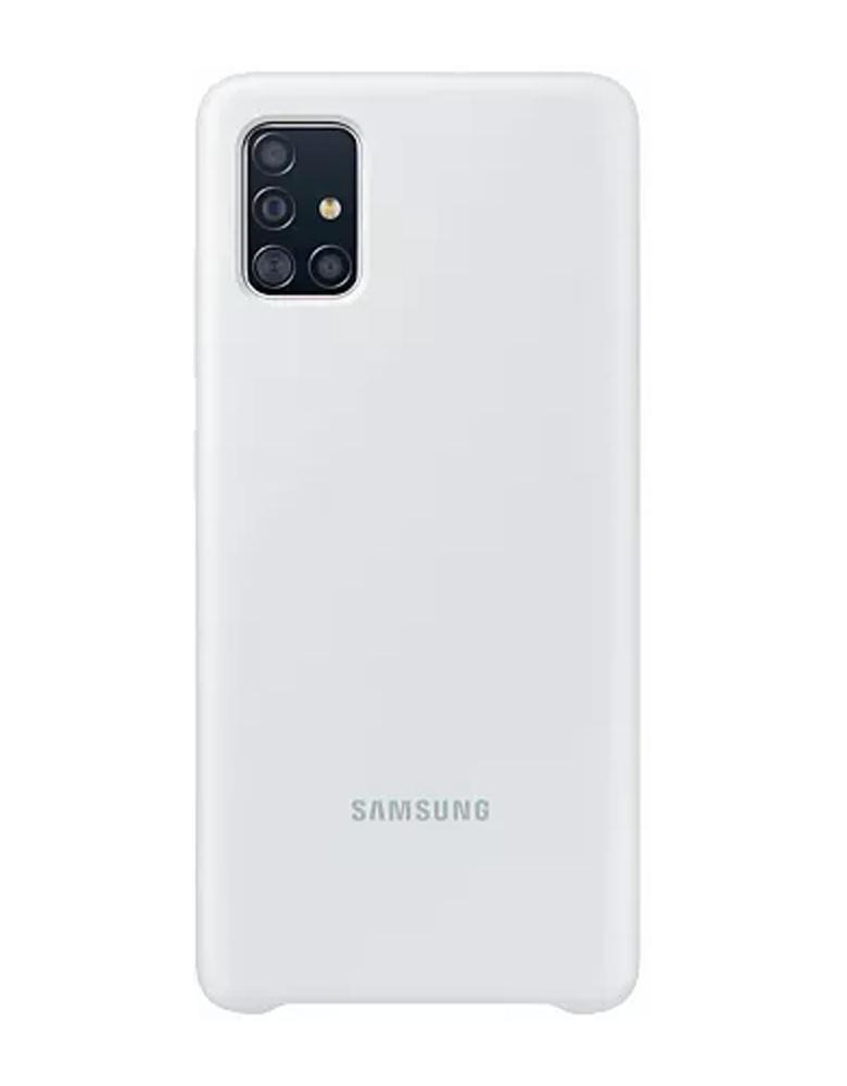Чехол Samsung Silicone Cover для Galaxy A51 белый