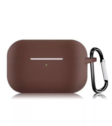 Силиконовый чехол для Apple AirPods Pro коричневый
