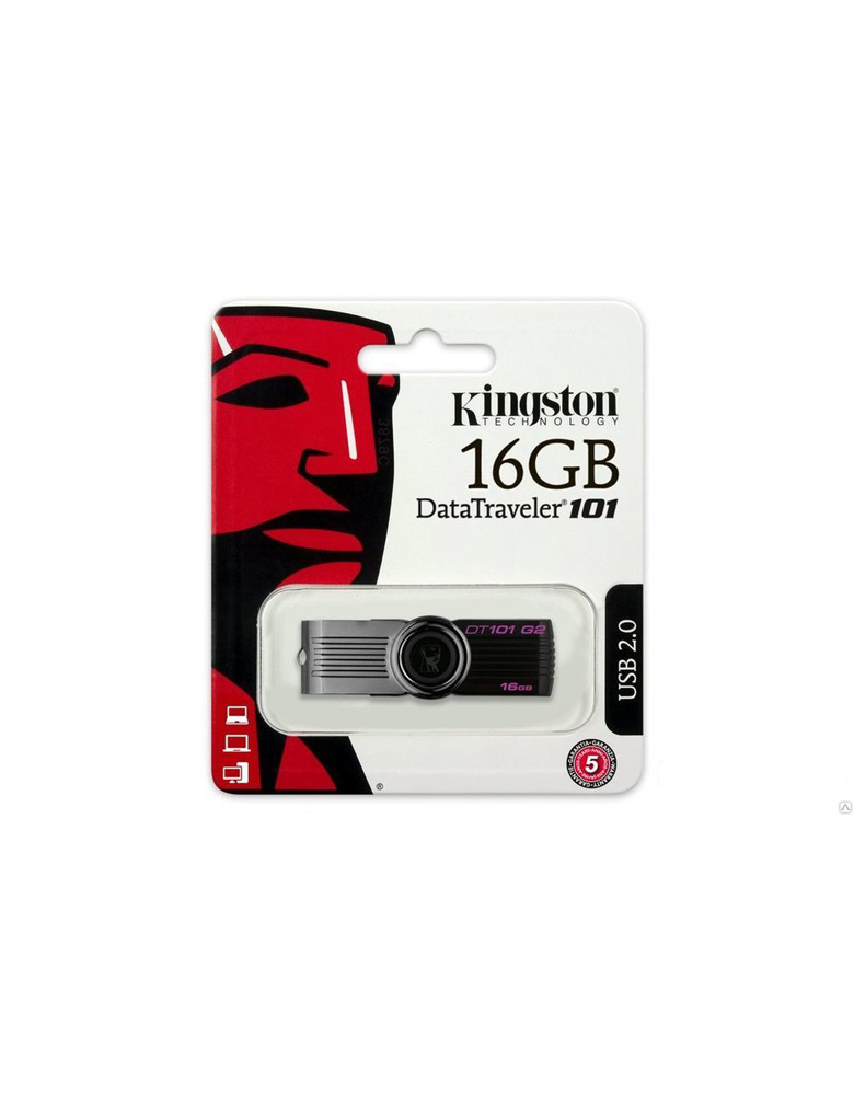 USB Флэшка Kingston Data Traveler 101 G2 16GB